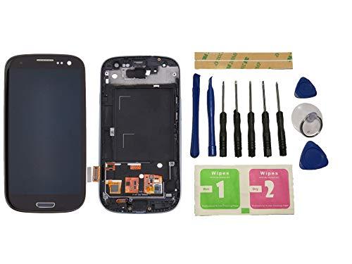 Flügel für Samsung Galaxy s3 i9300 i9305 Display LCD Ersatzdisplay Schwarz Touchscreen Digitizer Bildschirm Glas Komplett Einheit mit Rahmen Ersatzteile & Werkzeuge & Kleber
