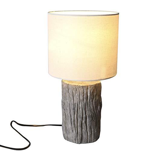 Casablanca lamp boomstam grijs/crème, poly (BxHxD) 35 x cm