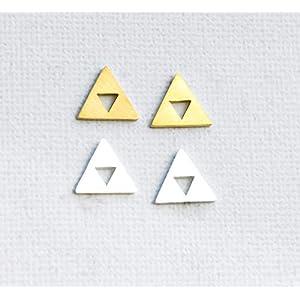 Geometrische Ohrstecker Goldfarben – Silberfarben