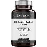 Maca Negra Andina equivalente a 24.000mg por cada dosis de 1200mg con L Arginina, Zinc y Vitaminas B6 B12 | 120 cápsulas vegetales de Maca altamente concentrada 20. 1 | Nutralie