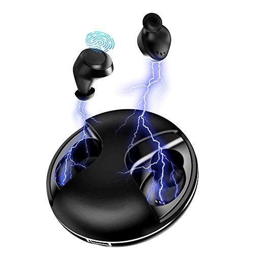 Auriculares Bluetooth, Auriculares Bluetooth Inalámbricos Mini Twins Stereo In-Ear Bluetooth 5.0 Deportivos Auriculares Estéreo con Caja de Carga Portátil Y Micrófono Integrado para iPhone y Android