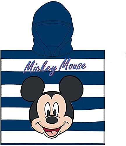 Toalla Infantil con Capucha de niño y niña Licencia Oficial Disney Mickey 8529