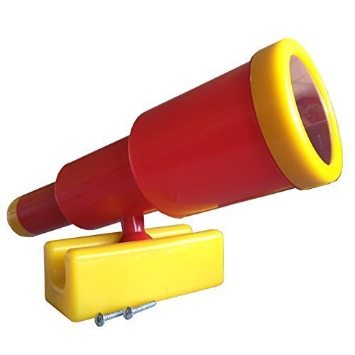 Großes Teleskop Fernrohr für Spieltürme, (rot/gelb)