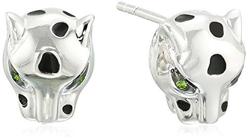 Effy Womens 925 Sterling Silver Tsavorite Stud Earrings, Silver, One Size