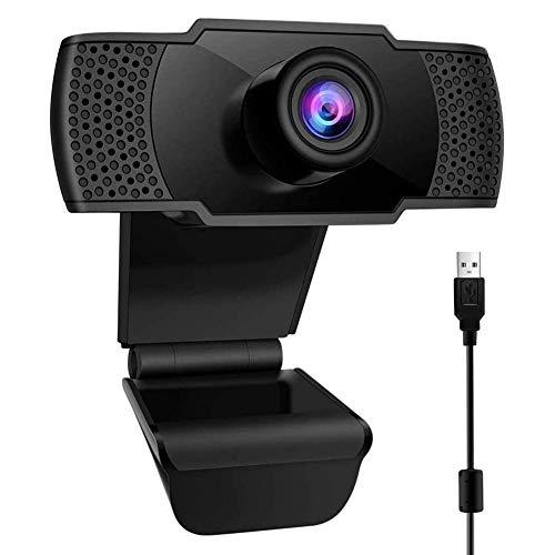 Pptabold Webcam 1080P con Microfono,USB 2.0 Full HD Webcamera con Clip Regolabile per Videochiamata,Riunione, Lavoro a casa,Studio e Gioca
