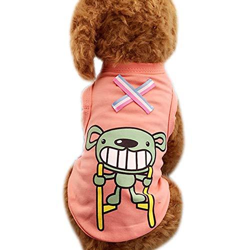 PerGrate Ropa para perro, diseño de gato y cachorro de verano, algodón,...