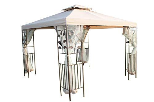 Garden Market Place Spare Roof Cover for a Leaf Design 3M Square Garden Gazebo-Beige Colour, 300 X 300 X 25CM