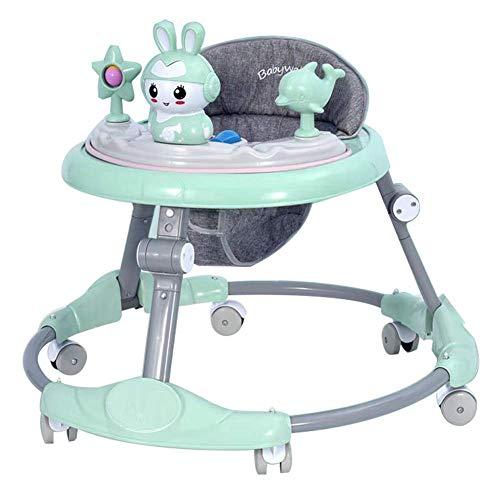 WM-LIHGT Baby Lauflernhilfe, Faltbare, Baby Gehfrei Justierbar mit Leicht zu Reinigendes Tablett, Gehfrei Lauflernhilfe Baby ab 6 Monate, Mehrere Modi, Spielzeugteller Baby Lauflernhilfen