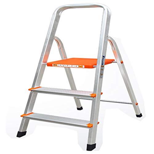 MIAOLIDP Escalera para el hogar - Escalera plegable para el hogar Ancho de la escalera de aluminio en espiga - Escalera con pedales Simple y elegante
