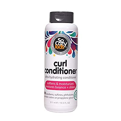 SoCozy Curl Conditioner   For Kids Hair   Softens, Restores Bounce and Shine   10.5 fl oz   No Parabens, Sulfates, Synthetic Colors or Dyes