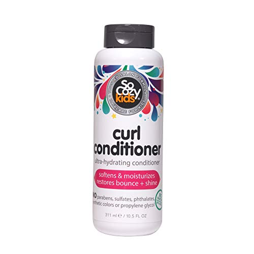 SoCozy Curl Conditioner   For Kids Hair   Softens, Restores Bounce and Shine   No Parabens, Sulfates, Synthetic Colors or Dyes, Sweet-Crème, 10.5 Fl Oz