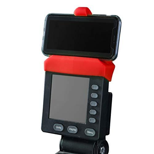 Handyhalterung für PM5-Monitore von Rudergerät, SkiErg und BikeErg - Silikon Fitness Produkte (rot)