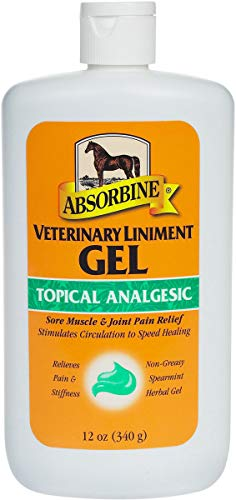 Absorbine Veterinary Liniment Gel Sore Muscle & Joint Pain Relief 12oz.