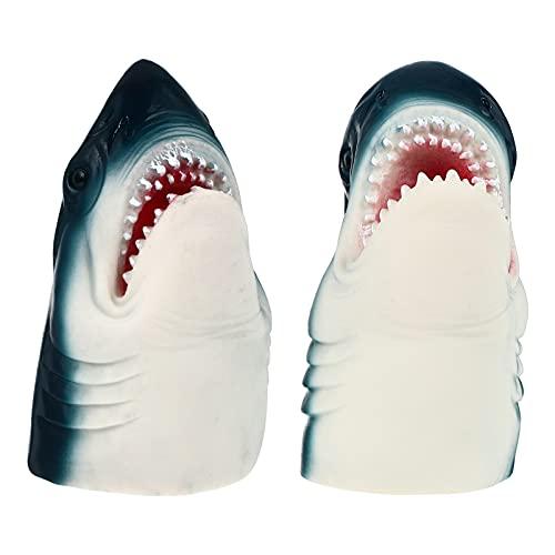 Toddmomy 2 Piezas de Tteres de Mano de Tiburn de Halloween Shark Cosplay Accesorios de Disfraz Animal de Juguete de Cuento de Hadas Juego de rol Suministros para Fiestas
