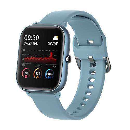 BNMY Smartwatch, Reloj Inteligente Impermeable IP67 para Hombre Mujer Niños, Pulsera De Actividad Inteligente con Monitor De Sueño Contador De Caloría Pulsómetros Podómetro para Android iOS,Azul