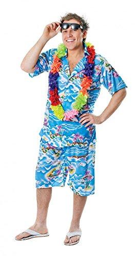 shoperama Hawaii-Hemd mit und ohne Hose Spaß-Kostüm für Herren Urlauber Tourist Ballermann Party, Größe:Hemd - M/L