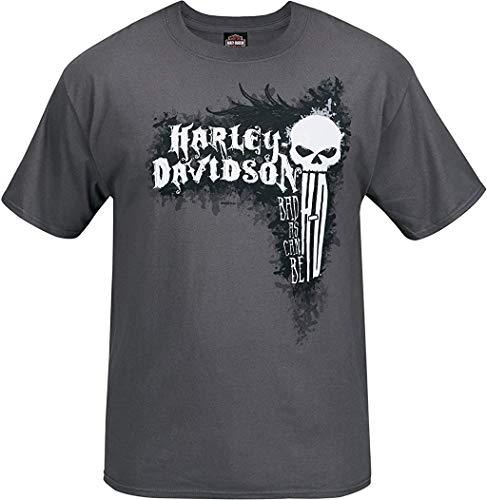 Harley-Davidson Military - Men's Short-Sleeve Smoke Grey Graphic T-Shirt - Bagram Air Base | Can Be Bad XL