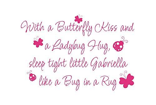 Meisje Muurstickers Vlinder Kus Lieveheersbeestje Knuffel Vinyl Muursticker Zeggen Gedicht Muursticker Voor Meisje Baby Kwekerij Kamer Decor 22