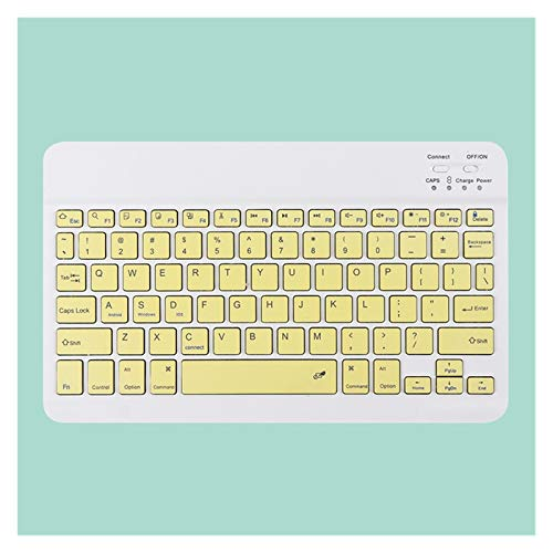 Teclados para iPad Bluetooth Keyboard TouchPad Pro 11 Wireless Mini Bluetooth Teclado y Mouse para Samsung Xiaomi Teclado iPad (Axis Body : Tea Shaft, Color : Yellow A)