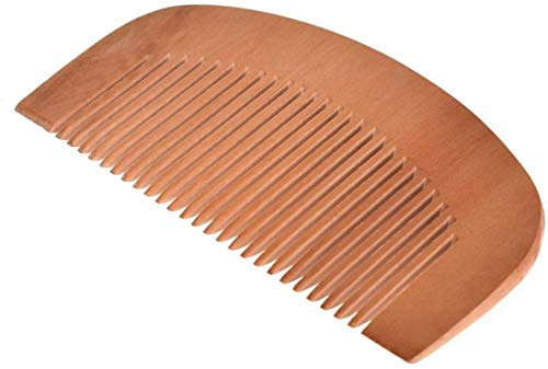 Peine Peine de madera de 9 cm Longitud de pelo Mini madera de madera del peine del pelo recto de la barba bigote y estética de pelo que labra la herramienta portátil de pelo