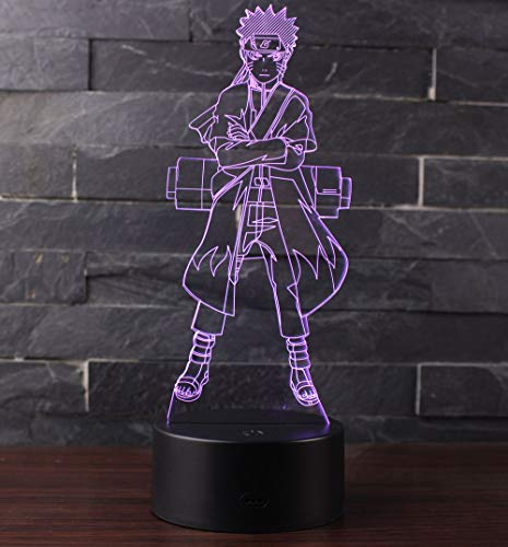 3D Optische Illusions-Lampen Win-Y LED-Schreibtisch Tischlampe 7 Farb-Touch-Lampen-Ausgang Schlafzimmer-Büro-Dekor für Kindergeburtstag Weihnachtsgeschenk (F2)