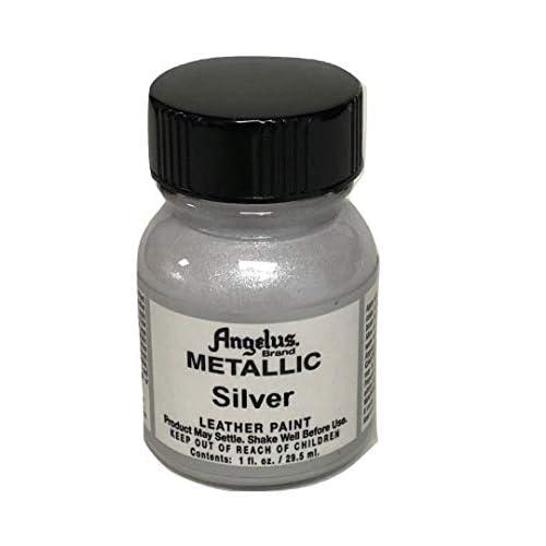 Angelus Pelle Vernice acrilica-1 oz-Silver