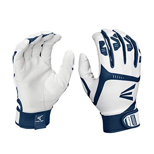 EASTON GAMETIME Batting Gloves, Pair, Adult, Large, White   Navy