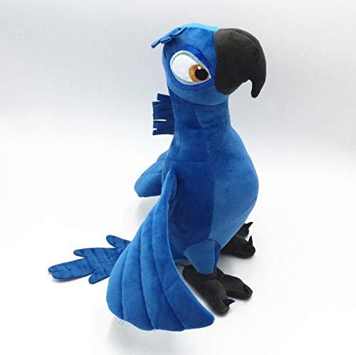 HJYAAA Peluche Giocattoli Peluche Rio 2 Film Cartoon Pappagallo Blu Blu Gioiello Bambole Uccello Regali di Natale per Bambini Peluche Peluche 30 Cm