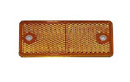 10 Stück Rückstrahler, Seitenstrahler, Reflektor, orange, rechteckig, 90x40mm, selbstklebend und zum schrauben mit E-Prüfzeichen