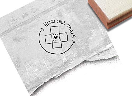 Stempel Arztstempel Belohnungsstempel HELD des Tages mit Pflaster klein - Motivation Belohnung für Kinder Kinderarzt Krankenhaus - von zAcheR-fineT
