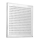 Sistema de grifo de ducha de baño de 12 pulgadas con acabado cromado LED cuadrado ducha rociador sensor de temperatura de la cabeza 3 cambio de color grifo de la ducha set lluvia HEA