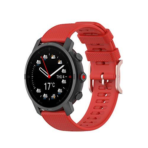 Tiggo 22MM Correa Compatible con Polar Grit X / Vantage M,Bandas Correa Repuesto,Reloj Recambio Brazalete Correa Repuesto para Polar Vantage M2/Garmin Venu 2/ Amazfit GTR 47mm (rojo)