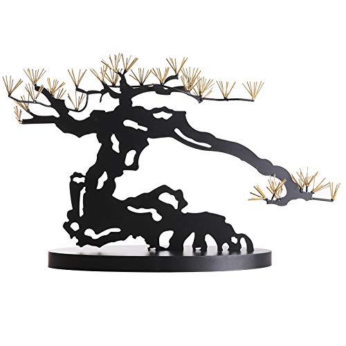 BHUIJN Figuritas Decorativas Estatua De La Escultura Bienvenido Pino Decoración De Metal Decoración del Hogar Sala De Estar Entrada TV Gabinete Decoración De Hierro