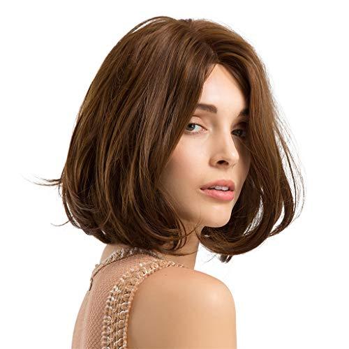 Rawdah Pelucas Mujer Pelo Natural Largo Corto Postizos Mujer Rubio Pelucas sintéticas del pelo sintético del pelo rizado largo de las mujeres para hermoso y generoso