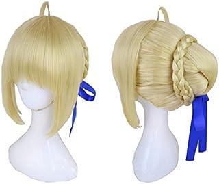 【ラベンダー】FGO セイバー Saber ネット、耐熱 wig ウィッグ cosplay コスプレ イベント 仮装 ハロウイン クリスマス 文化祭(髪飾り含まず)
