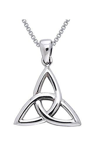 Jewelry Trends Celtic Triquetra Trinity Knot Sterling Silver Pendant Necklace 18'