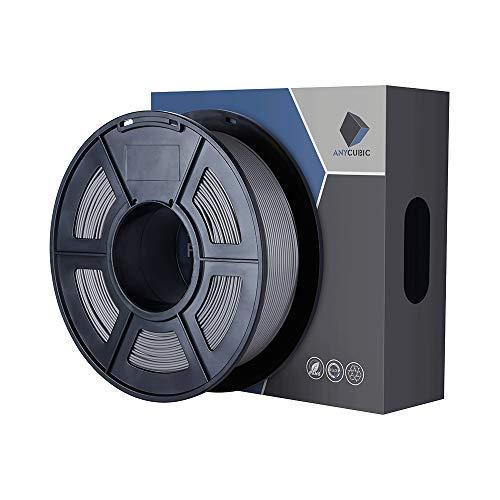 ANYCUBIC PLA Filamento 1,75 mm Stampante 3D Grigio Filament PLA 1 kg di Spool per Stampanti 3D e Penna 3D
