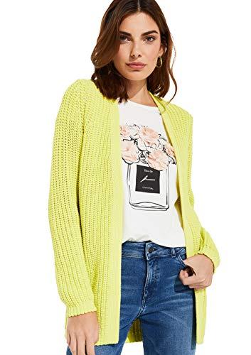 comma Damen Cardigan aus Strukturstrick Yellow M