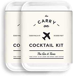 W&P Carry On Cocktail Kit, Gin & Tonic | Set of 2 | Travel Kit for Drinks on the Go, Craft Cocktails, TSA Approved