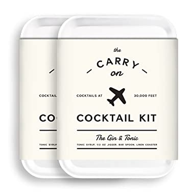 W&P MAS-CARRYKIT-GT-2 Carry on Cocktail Kit, Gin and Tonic, Travel Kit for Drinks on the Go, Craft Cocktails, TSA Approved, Pack of 2