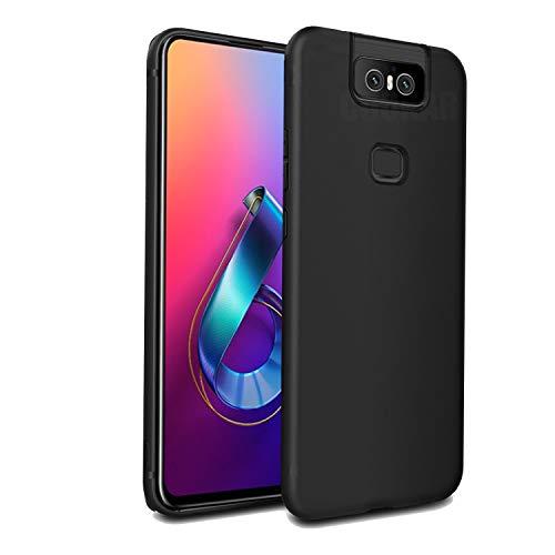 cookaR Crystal Clear ASUS Zenfone 6 2019 ZS630KL Hülle, Transparent Silikon TPU Case Ultradünn Soft Cover Handyhülle Schutzhülle für ASUS ZS630KL Smartphone, Schwarz