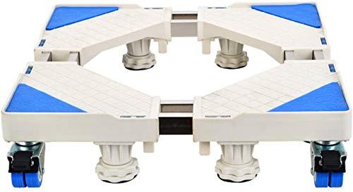 SHKUU Soporte Base para Lavadora, Soporte Base móvil Multifuncional Carro para electrodomésticos Ruedas Freno Ajustables Base para Secadora, Lavadora y refrigerador