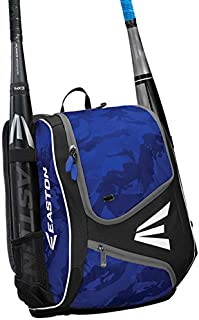 EASTON E110YBP Youth Bat & Equipment Backpack Bag | Baseball Softball | 2020 | 2 Bat Sleeves | Smart Gear Storage | Valuables Pocket | Rubberized Zipper Pulls & Fence Hook for Dugout Functionality