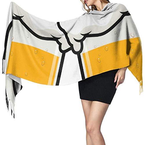 NA Bier trinken Party Feier Versorgung Mädchen leichte Schal Fringe Schals für Frauen Womans Schal Wrap große weiche Pashmina extra warm