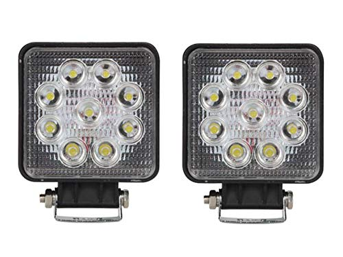 2er Set 27 Watt LED Fassadenstrahler schwarz, IP67 Außenfluter zur Außenbeleuchtung