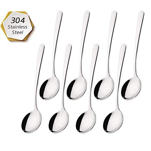 YYZP 8 Piezas de cucharas de café, cucharas de café Espresso de Acero Inoxidable, cucharas pequeñas para Postre, té, Aperitivo, Cuchara de Postre, 4.5 Pulgadas