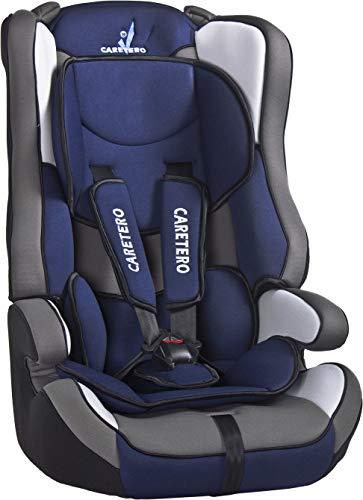 Verstellbarer Auto Kindersitz Caretero Vivo Kopfstütze 9-36 kg 72-150 cm Gruppe 1, 2, 3 Navy
