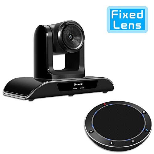 Tenveo Videokonferenzsystem mit Konferenzkamera und Bluetooth Mikrofon, 1080p Full-HD USB PTZ Webcam, für Live Streaming, Skype/Zoom Videokonferenzen (VHD1080pro-set)