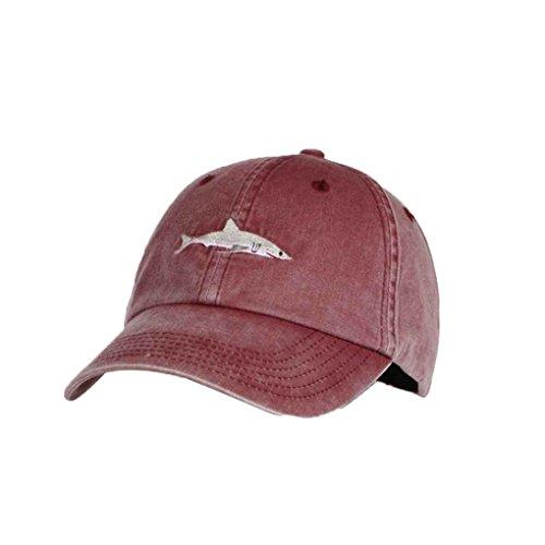Chowcencen Cotton Shark Baseball Cap Männer Frauen Stickerei-Sport-Hut Sonnenhut Hip-Hop Jungen-Mädchen-Baseball-Mütze