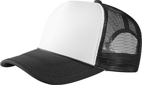 MSTRDS Herren Trucker high Profile Baseball Cap, Mehrfarbig (black/white 1023,1819), One size